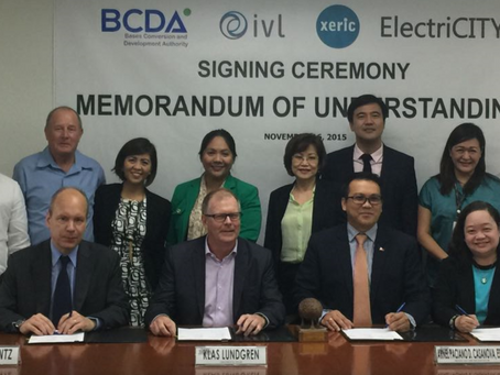 Xeric, IVL and ElectriCITY signs MoU with BCDA for cooperation between Sweden and the Philippines