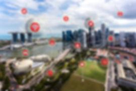 Smart City concept, Wireless communicati
