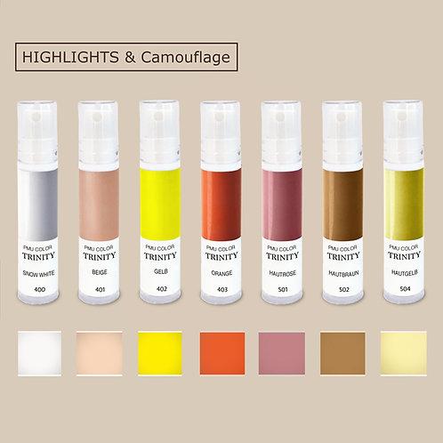Permanent Make-Up Farben - Highlight Set - organische Pigmente