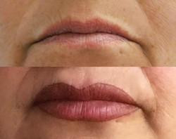 Permanent Make Up Lippen Behandlung vorher / nachher in Dortmund. Schöne Permanent Make Up Lippen au