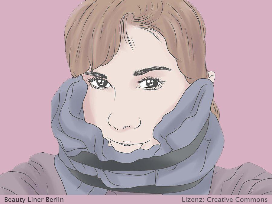 Permanent Make Up Pflege nach Behandlung - pigmentierte Bereiche kühlen - Schritt 1