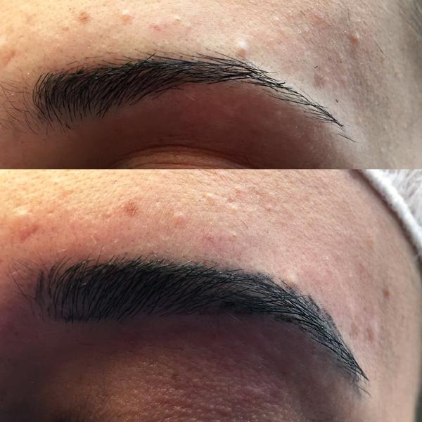 Permanent Make-Up München - Behandlung - Augenbrauen Härchenzeichnung vorher nachher- pigmentieren -