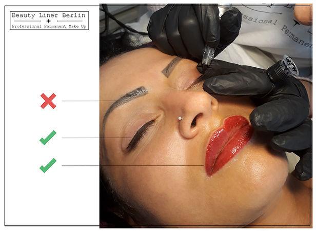 Permanent Make-up Schulung - Lidstrich und Lippen