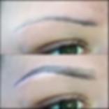 PMU Permanent Make Up Farben - Augenbrauen Härchenzeichnung vorher/nachher