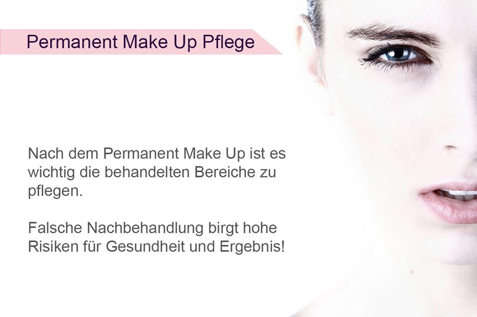 Infografik - Permanent Make-Up Pflege nach dem Permanent Make Up