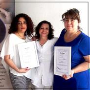 Permanent Make-up Ausbildung 2017 - Kursabschluss Zertifikate und Diplome für Schülerinnen
