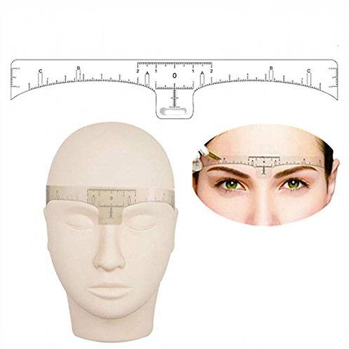 Augenbrauen Lineal klebend