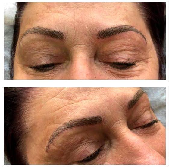 Microblading Pflege nach Behandlung - Nachbehandlung Augenbrauen mit Microblading Farbe