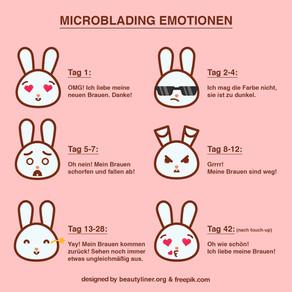 MICROBLADING EMOTIONEN - Phasen nach Behandlung