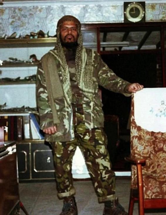 Manwar Ali during his time fighting jihad.