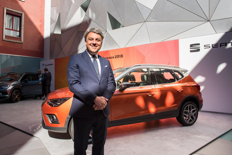 Luca de Meo at Seat Group Press Conference. Commisioned by SEAT ESPAÑA