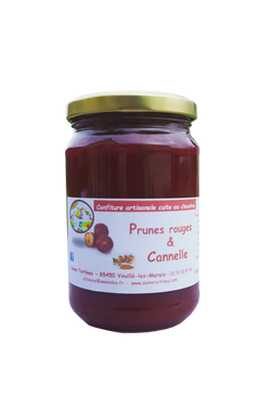 prunes rouges cannelle