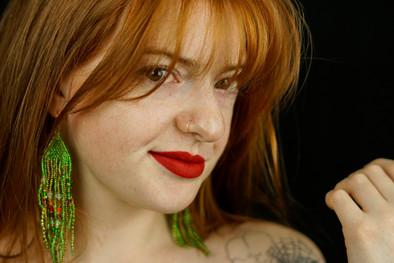 Virgo Earrings Promo Shot