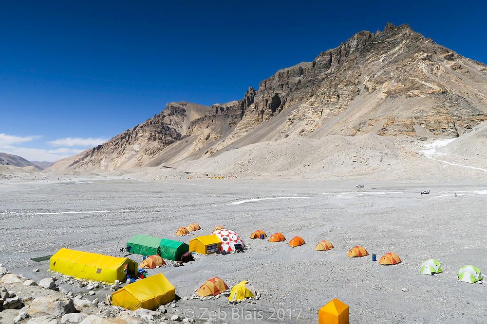 Everest Base Camp on the north side. Zeb Blais