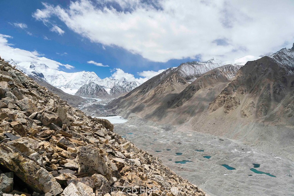 The Rhongbuk Valley where EBC north side is located. Zeb Blais