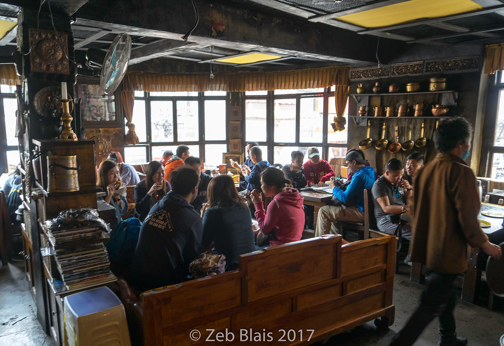 Makye Ame restaurant near Jokhang Temple. Zeb Blais.