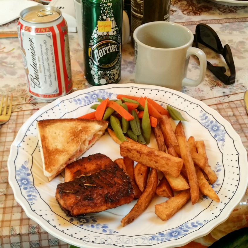 20170422 lunch grilled salmon