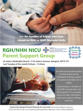 RGH NHH NICU Parent Support Group Flyer