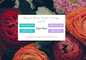 Gwent Best Kept Village Awards 2017 Now accepting applications!