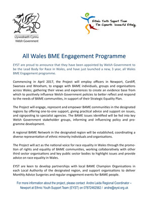 All Wales BME Engagement Programme Launch!