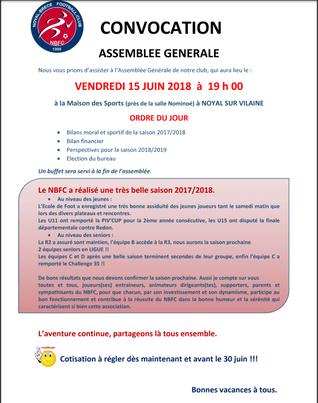 Assemblée Générale 16 Juin