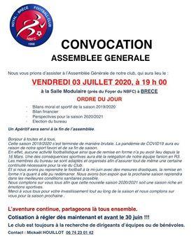 AG du club le 03 Juillet 2020 à Brécé