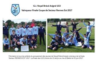 Finale Coupe secteur Rennes-Est U13
