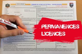 Dernières permanences licences