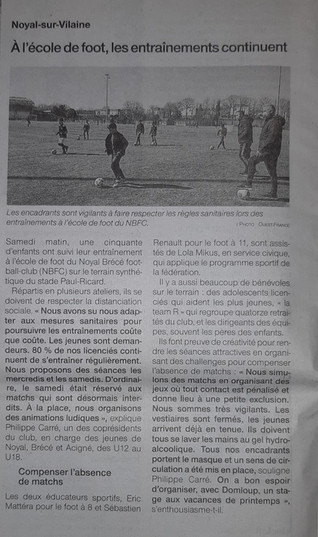 Article Ouest France 24/03
