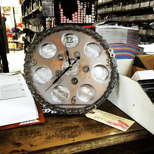Handmade Sprocket Chain Clock