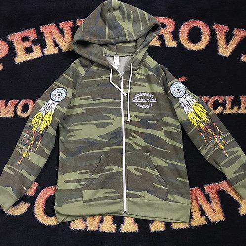 Women's PMC Camo zip sweatshirt