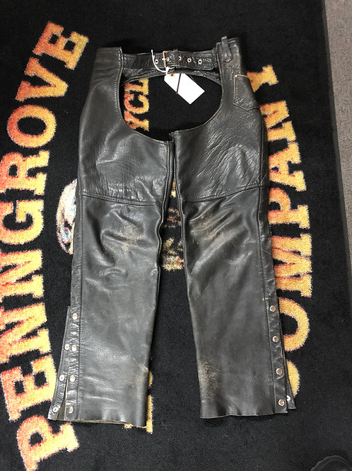 USED Barney's Leather chaps size XL