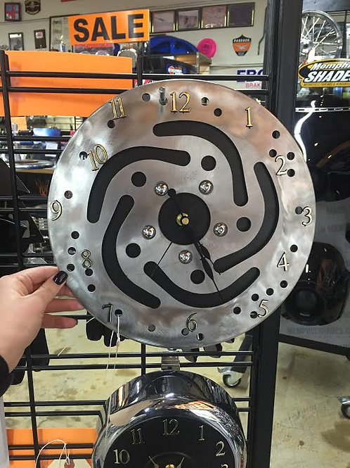 Handmade Brake Rotor Clock