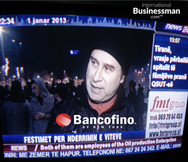 Interviewed on New Year's Eve in Tirana, Albania