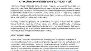 CityCentre Properties is Open for Business!