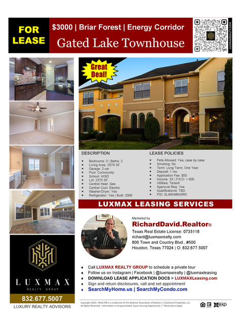 Gated Lakeview Townhome