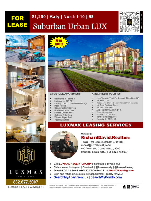 Thank you for your business, loyalty, friendship, and referrals.  Your support of small business is highly appreciated!  Reach out to us at 832.677.5007.  Visit us at LuxmaxRealty.com LuxmaxLeasing.com HispanicRealtyAgent.com