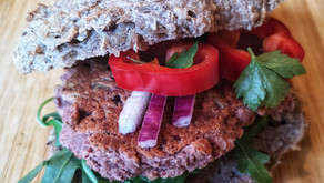 Bønne- og valnøttburger