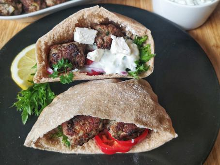 Greske kjøttboller i pita