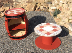 Renovated garden furniture