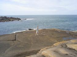 Rock walk Tregastel.