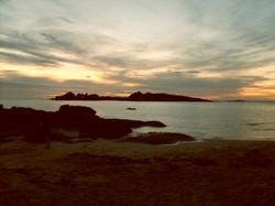 Sunset at Tregastel.