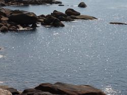 High tide at Tregastel.