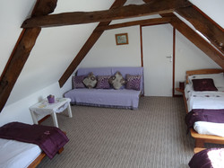 Lavender bedroom.