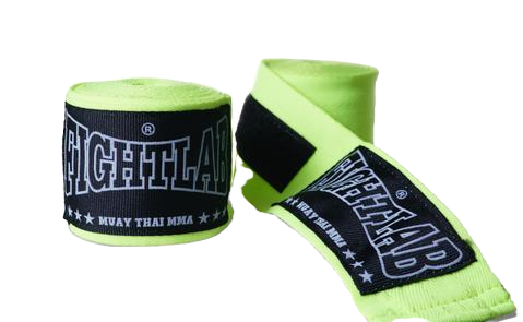 FIGHTLAB THAI BOXING 4.5 METER HAND WRAPS - Fluro Yellow