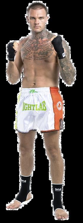 "MUAY THAI MMA K1 FIGHTLAB ""IRISH PRIDE"" THAI BOXING SHORTS - WHITE/GREEN"