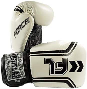 "MUAY THAI MMA K1 FIGHTLAB ""FORCE"" DESIGN THAI BOXING GLOVES - White"