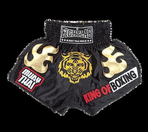 "MUAY THAI MMA K1 FIGHTLAB ""KING OF BOXING"" THAI BOXING SHORTS"