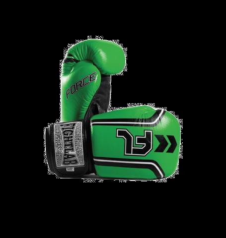 "MUAY THAI MMA K1 FIGHTLAB ""FORCE"" DESIGN THAI BOXING GLOVES - Green"