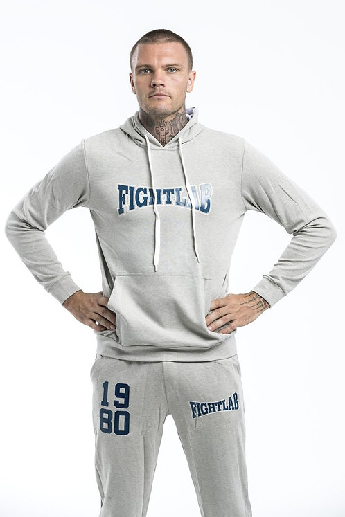 "MUAY THAI MMA K1 FIGHTLAB ""VINTAGE"" TRACKSUIT HOODY - light grey"